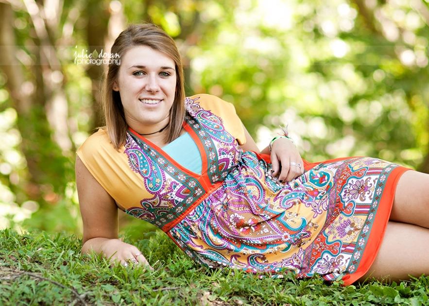 orange paisley dress