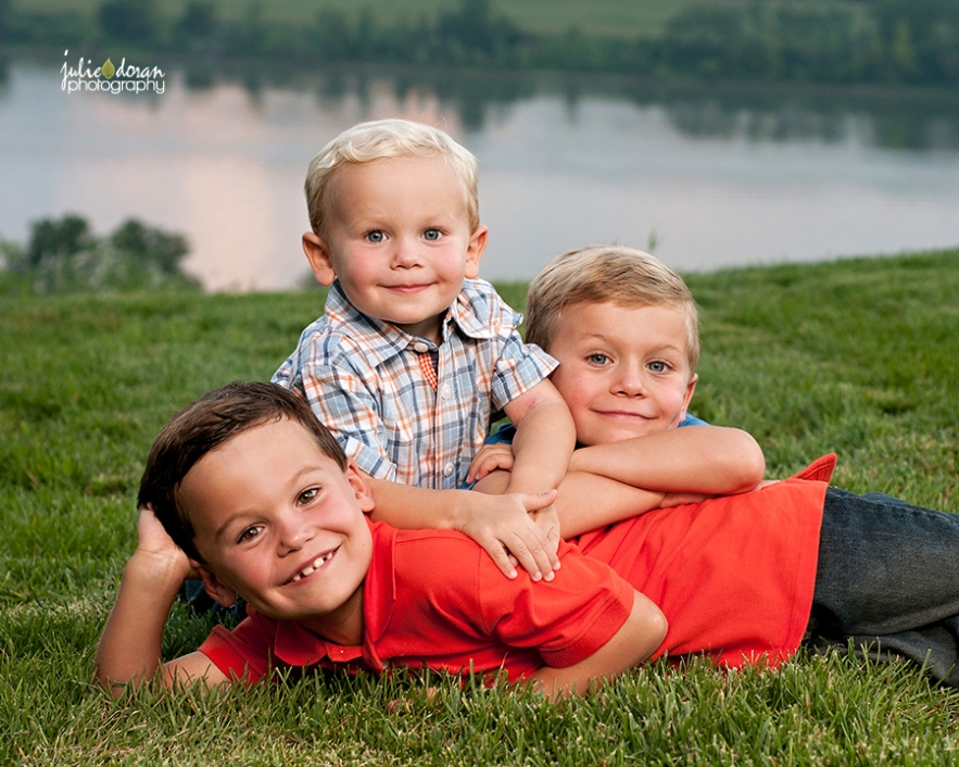brothers piled up