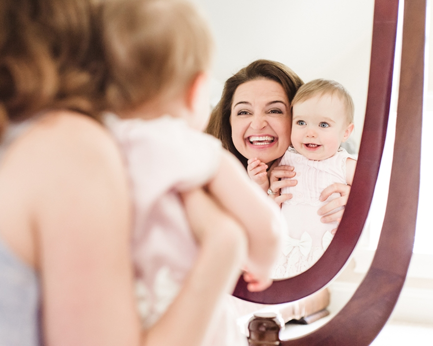 mom and baby reflection mirror